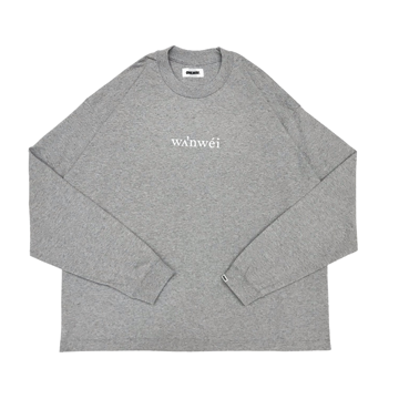 "ONE WAY ""ONEWAY™"" ""Phonetic sign"" L/S TEE -GRAY-"