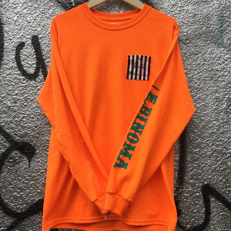 GOD STRIPE Pocket L/S Tee(Orange)