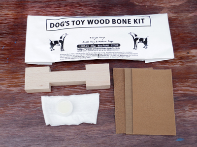 URBAN OLE ECOPARK URBAN OLE ECOPARK DOG`S TOY WOOD BONE KIT