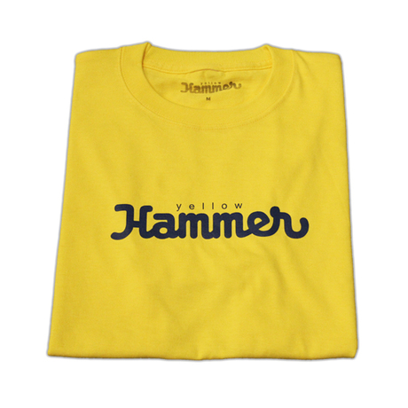 YELLOW HAMMER LOGO T SHIRTS(YELLOW × NAVY)