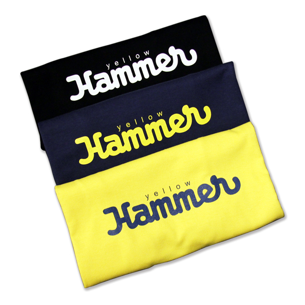 LOGO T SHIRTS(YELLOW × NAVY)
