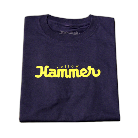 LOGO T SHIRTS(NAVY × YELLOW)